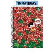Caderno Turma da Mônica Toy Magali Melancia 10 Matérias