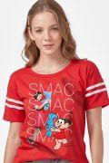 Camiseta Athletic Feminina Turma da Mônica Laços Mônica SMAC