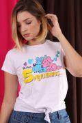 Camiseta Feminina Nozinho Turma da Mônica 5 Minutinhos