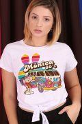 Camiseta Feminina Nózinho Turma da Mônica Hippie 60's