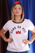 Camiseta Feminina Turma da Mônica Dona da Rua