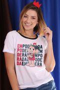 Camiseta Feminina Turma da Mônica Dona da Rua Empoderada