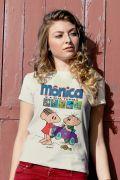 Camiseta Feminina Turma da Mônica Gibi