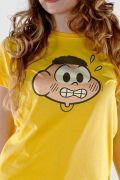 Camiseta Feminina Turma Da Monica Face Cascão