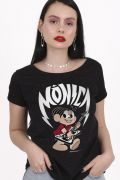 Camiseta Feminina Turma da Mônica Rockstar
