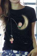 Camiseta Feminina Turma da Mônica Toy Lua