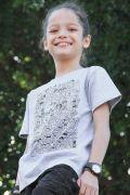 Camiseta Infantil Mauricio de Sousa 80 Anos P&B