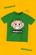 Camiseta Infantil Turma da Mônica Cebolinha #Infalível