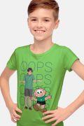 Camiseta Infantil Turma da Mônica Laços Cebolinha OOPS