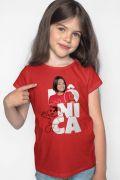 NÃO DISPONIBILIZAR Camiseta Infantil Turma da Mônica Laços Mônica