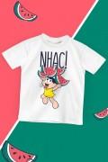Camiseta Infantil Turma da Mônica Magali Nhac