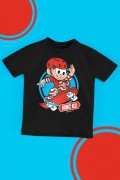 Camiseta Infantil Turma da Mônica Skate