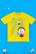 Camiseta Infantil Turma da Mônica Toy Cebolinha Desenhando