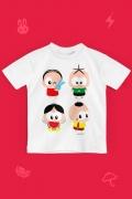 Camiseta Infantil Turma da Mônica Toy Personagens