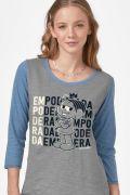 Camiseta Manga Longa Feminina Turma da Mônica Empoderada