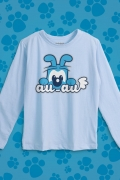 Camiseta Manga Longa Infantil Turma da Mônica Bidu AUAU