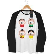 Camiseta Raglan Masculina Turma da Mônica Toy A Turma Toy