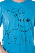 Camiseta Masculina Mauricio de Sousa 80 Anos Bidu