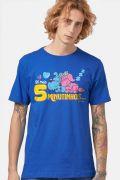 Camiseta Masculina Turma da Mônica 5 Minutinhos