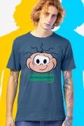 Camiseta Masculina Turma da Mônica Cebolinha #Cholamais