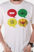 Camiseta Masculina Turma da Mônica Ícones