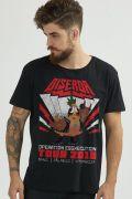 Camiseta Masculina Turma da Mônica Giserda Rock
