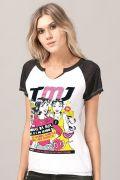 Camiseta Raglan Feminina Turma da Mônica Jovem Donas da Rua