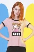 Camiseta Ringer Feminina Turma da Mônica Denise Aff