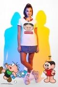 Camiseta Ringer Feminina Turma da Mônica #Eusoudeboa