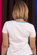 Camiseta Ringer Feminina Turma da Mônica Jovem Mônica e Cebolinha Pop