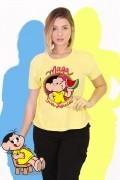 Camiseta Feminina Turma da Mônica Maga Sua Louca