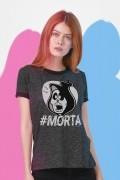 Camiseta Ringer Feminina Turma da Mônica #Morta