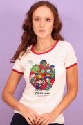 Camiseta Ringer Feminina Turma da Mônica Tóquio 2020