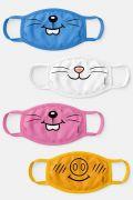 Kit com 4 Máscaras Turma da Mônica Mascotes