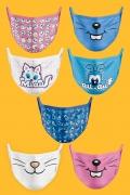 Kit com 7 Máscaras Turma da Mônica Turma Mascotes