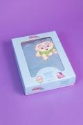 Manta Soft Microfibra Baby Bordado Cebolinha