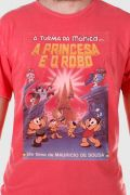 T-shirt Premium Masculina Turma da Mônica A Princesa e o Robô