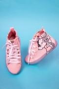 Tênis Cano Alto Turma da Mônica Pink Stamp