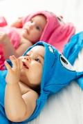 Toalha de Banho com Capuz de Orelhinhas Baby Bordado Sansão