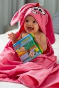 Toalha de Banho com Capuz Orelhinhas Baby Bordado Dalila