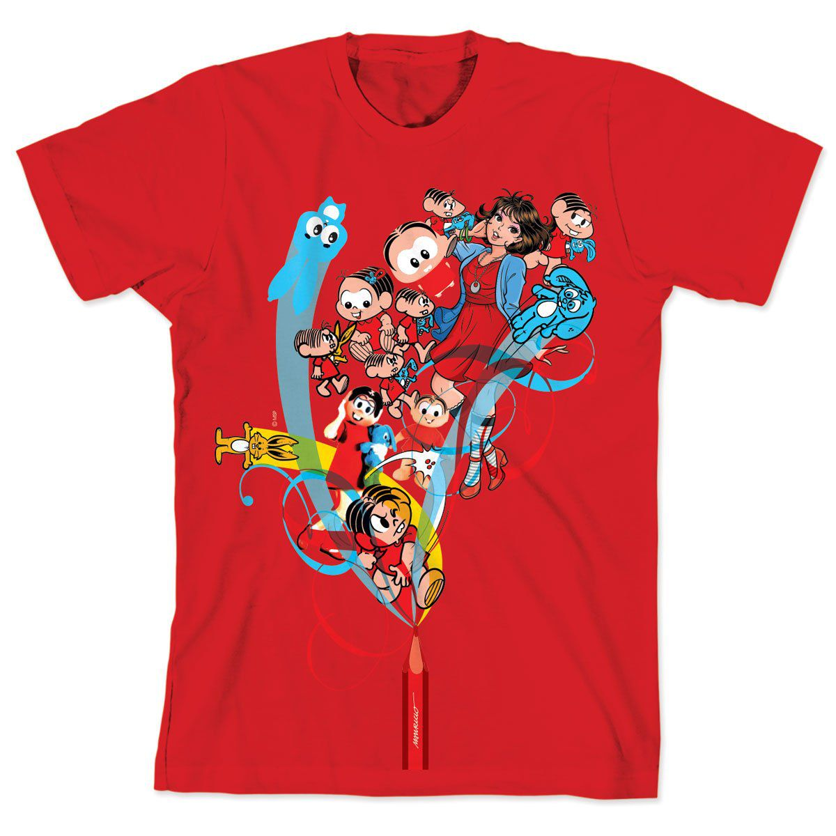 Camiseta Turma da Mônica 50 Anos Modelo 1 Anos 2000