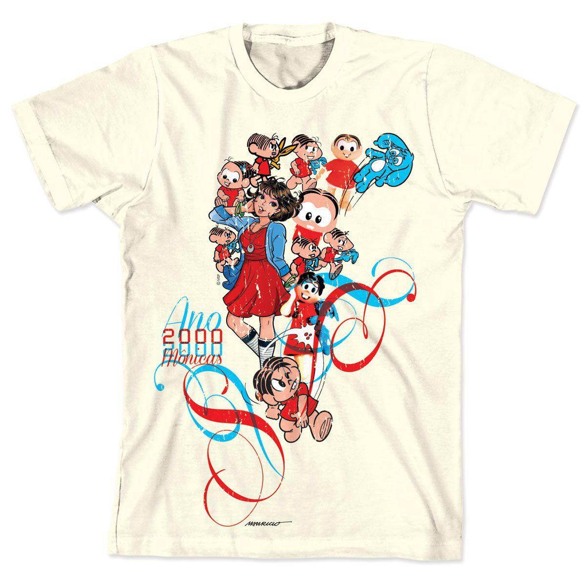Camiseta Turma da Mônica 50 Anos Modelo 2 Anos 2000