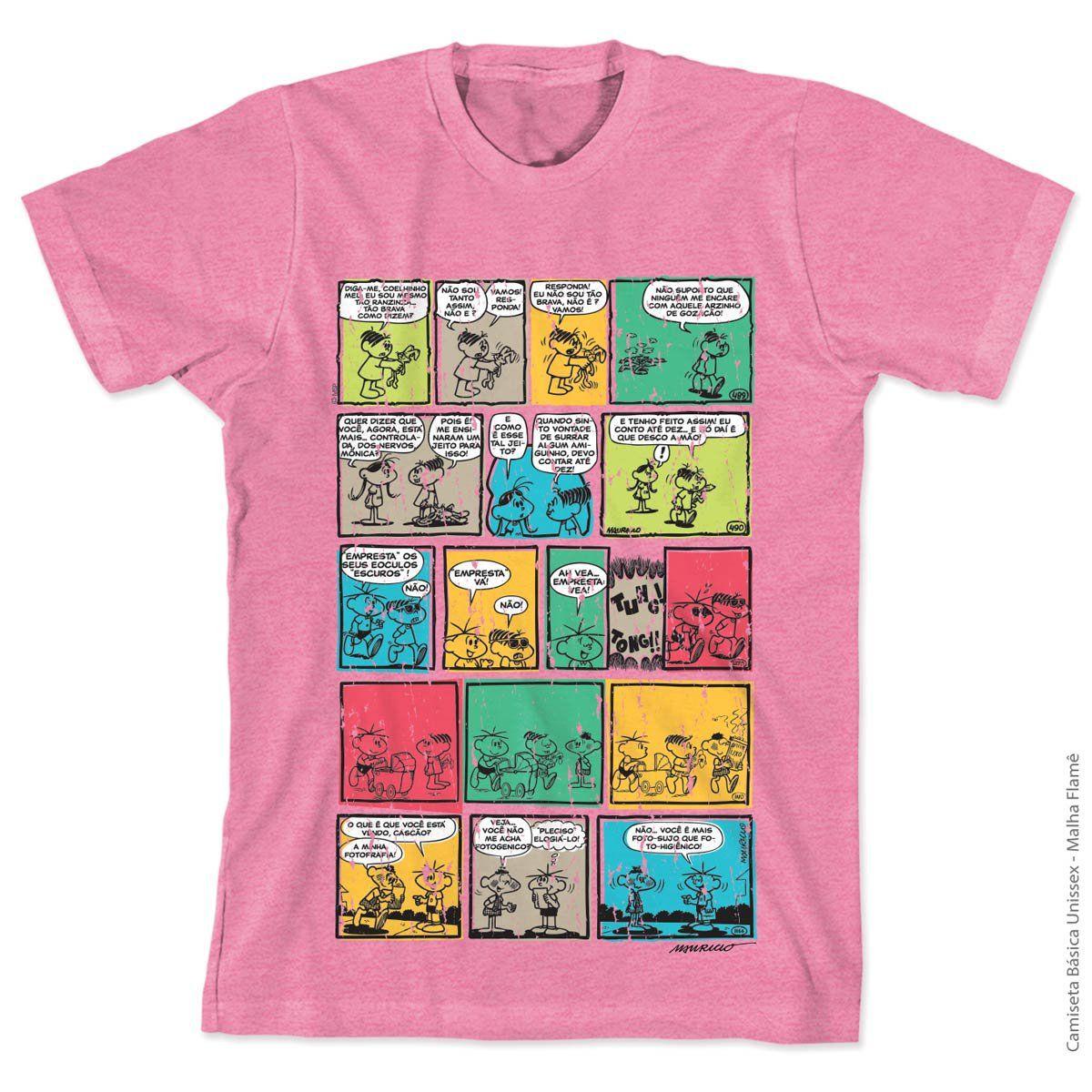 Camiseta Turma da Mônica 50 Anos HQ Adulto