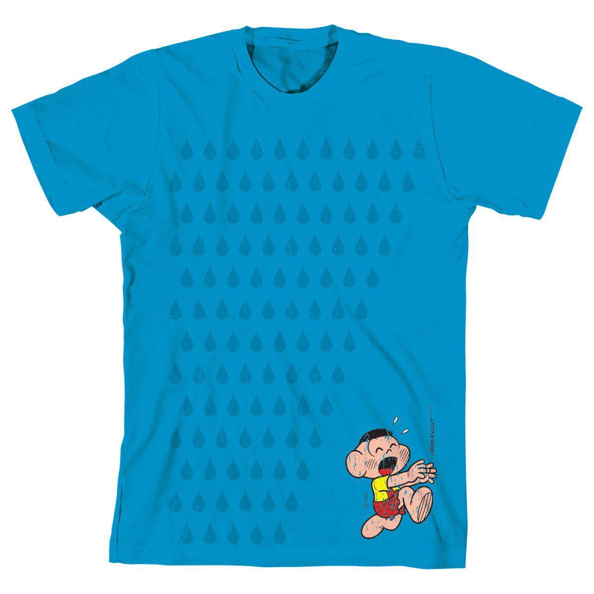 Camiseta Turma da Mônica Cool Cascão Chuva Não