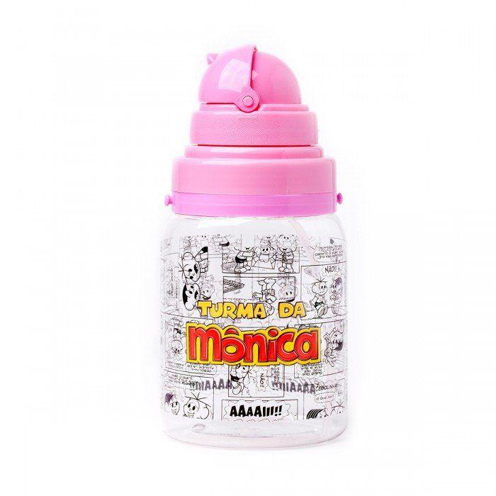 Garrafa de Plástico Infantil Turma da Mônica - Rosa