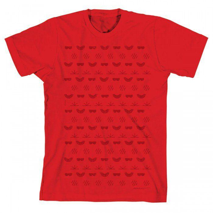 Camiseta Turma Da Mônica Cool Red Ícones