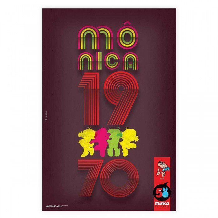 Pôster Turma da Mônica 50 Anos - Modelo 2 Anos 70