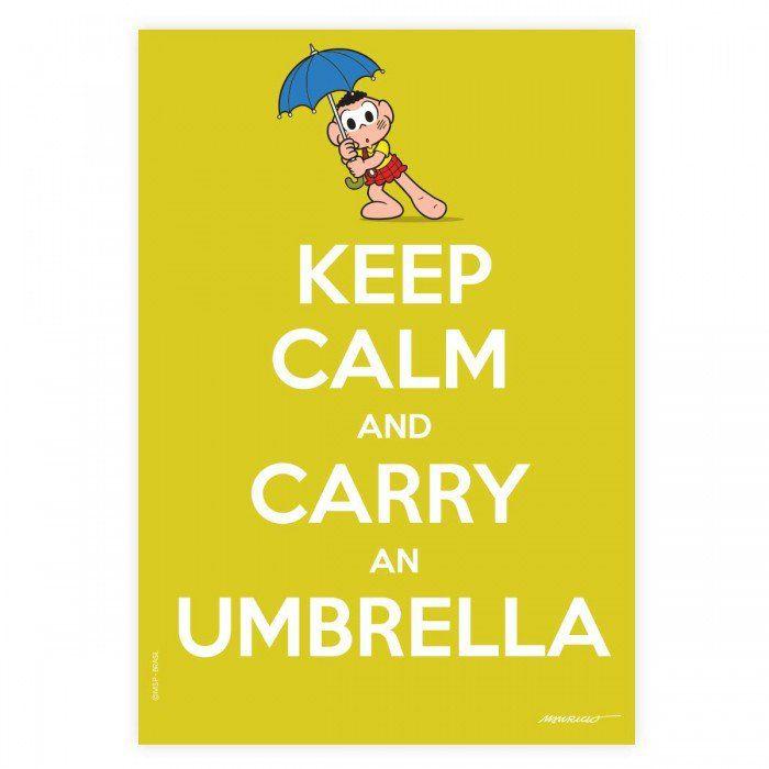 Pôster Turma da Mônica Cool - Keep Calm And Carry An Umbrella