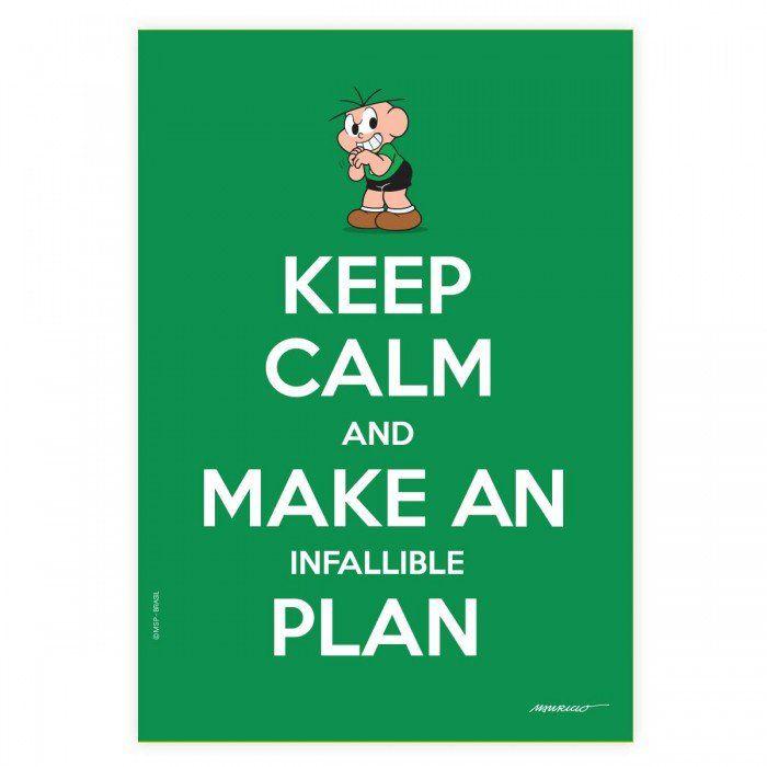 Pôster Turma da Mônica Cool - Keep Calm And Make An Infallible Plan