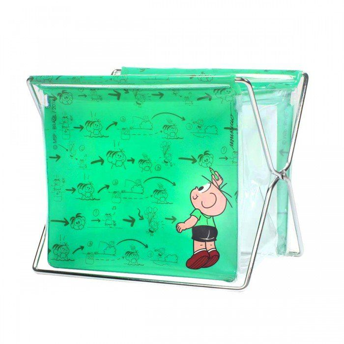 Porta-objeto Pequeno Turma da Mônica Cool - Green Cebolinha